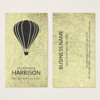 クールなヴィンテージの熱気の気球のパイロットのBalloonist 名刺