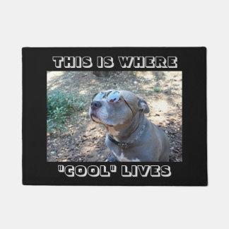 クールな人々のカッコいい犬の玄関マット ドアマット