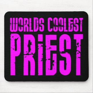 クールな司祭 + ピンク: 世界の最もクールな司祭 マウスパッド