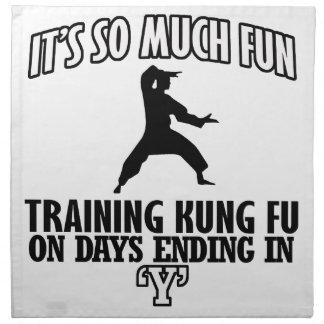 クールな向くKungのfuのデザイン ナプキンクロス