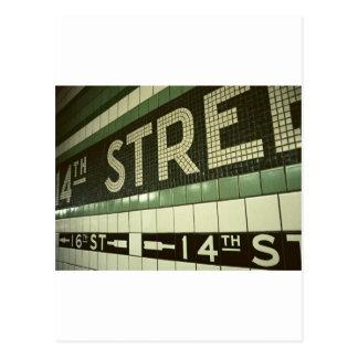 クールな地下鉄 ポストカード
