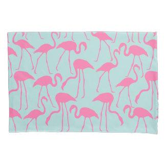 クールな夏のフラミンゴパターン 枕カバー