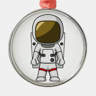 クールな宇宙飛行士の漫画のデザイン メタルオーナメント