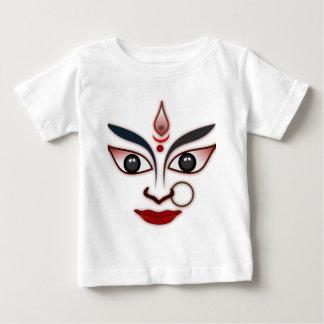 クールな宗教の顔のインドのマスクの女神 ベビーTシャツ