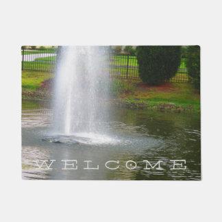 クールな家の歓迎の噴水のさくらんぼの丘NJ米国 ドアマット