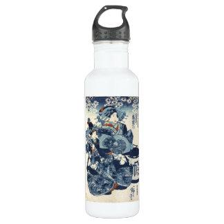 クールな日本のヴィンテージのukiyo-eの芸者スクロール芸術 ウォーターボトル