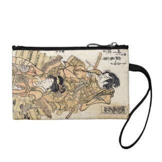 クールな日本のヴィンテージのukiyo-eのsamurajの戦士の芸術 コインパース