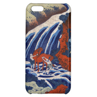 クールな日本のukiyo-eのヴィンテージの滝の景色 iPhone5C カバー
