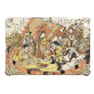クールな日本のukiyo-eの神話上のドラゴンの船の乗組員 iPad miniカバー