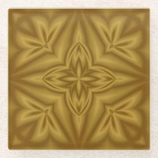 クールな木抽象芸術パターン ガラスコースター