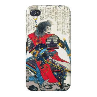 クールな東洋のクラシックな日本の武士の戦士の芸術 iPhone 4 ケース