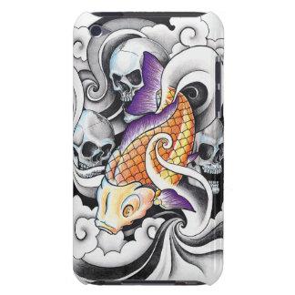 クールな東洋のコイのコイのスカルの入れ墨 Case-Mate iPod TOUCH ケース