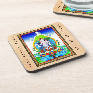 クールな東洋のチベットのthangkaの入れ墨Bhogavati コースター