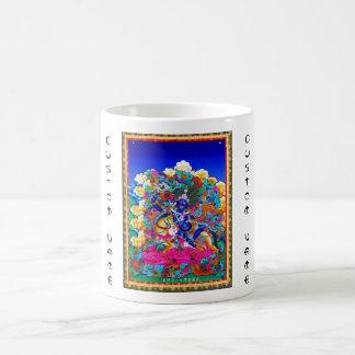 クールな東洋のチベットのthangkaの入れ墨Palden Lhamo コーヒーマグカップ