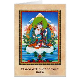 クールな東洋のチベットのthangkaの入れ墨Saraswati カード