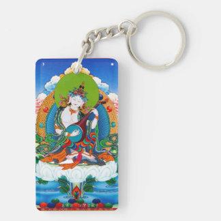 クールな東洋のチベットのthangkaの入れ墨Saraswati キーホルダー