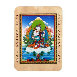 クールな東洋のチベットのthangkaの入れ墨Saraswati マグネット