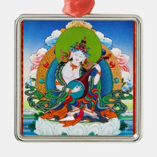クールな東洋のチベットのthangkaの入れ墨Saraswati メタルオーナメント