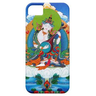 クールな東洋のチベットのthangkaの入れ墨Saraswati iPhone SE/5/5s ケース
