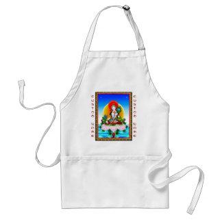 クールな東洋のチベットのthangkaの白いタラの入れ墨 スタンダードエプロン