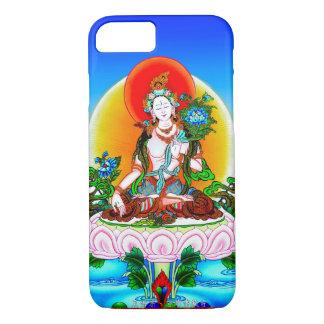 クールな東洋のチベットのthangkaの白いタラの入れ墨 iPhone 7ケース