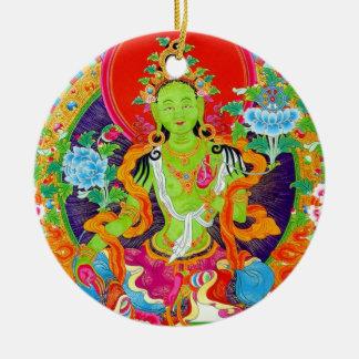 クールな東洋のチベットのthangkaの神の入れ墨の芸術 セラミックオーナメント
