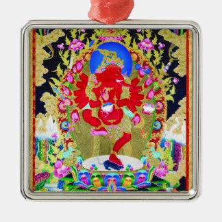 クールな東洋のチベットのthangkaの赤いJambhalaの入れ墨 メタルオーナメント