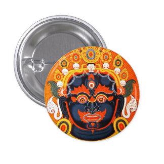 クールな東洋のチベットのthangkaのBhairavaの入れ墨の芸術 3.2cm 丸型バッジ