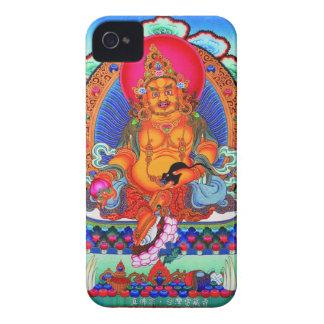 クールな東洋のチベットのthangkaのJambhalaの入れ墨の芸術 Case-Mate iPhone 4 ケース