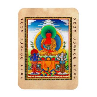 クールな東洋のチベットのthangka 3人の専攻のな聖者 マグネット