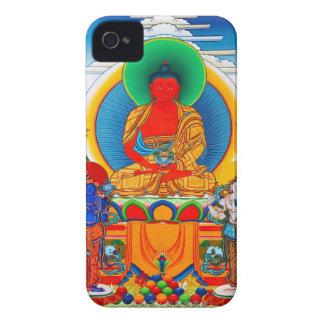 クールな東洋のチベットのthangka 3人の専攻のな聖者 Case-Mate iPhone 4 ケース