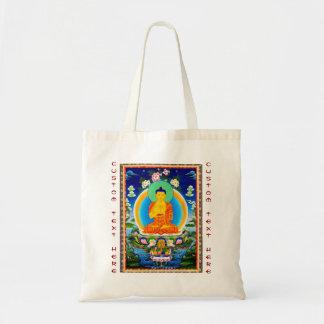 クールな東洋のチベットのthangka Prabhutaratna仏 トートバッグ