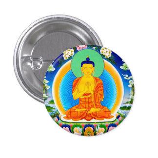 クールな東洋のチベットのthangka Prabhutaratna仏 3.2cm 丸型バッジ