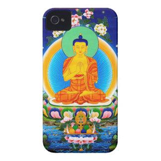 クールな東洋のチベットのthangka Prabhutaratna仏 Case-Mate iPhone 4 ケース
