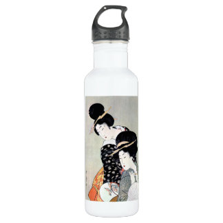 クールな東洋の日本ので伝統的な芸者の芸術 ウォーターボトル