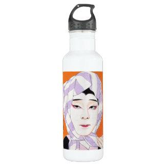 クールな東洋の日本のクラシックな女性絵画 ウォーターボトル