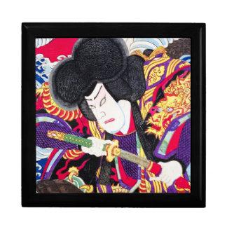 クールな東洋の日本のクラシックな武士の剣士 ギフトボックス
