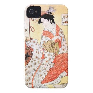 クールな東洋の日本のクラシックな芸者の女性芸術の鳴き声 Case-Mate iPhone 4 ケース