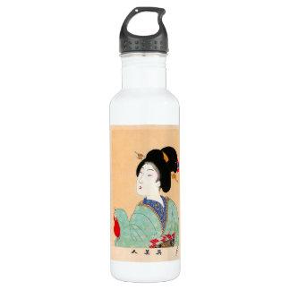 クールな東洋の日本のクラシックな芸者の女性芸術 ウォーターボトル