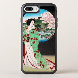 クールな東洋の日本のクラシックな芸者の女性芸術 オッターボックスシンメトリーiPhone 7 PLUSケース