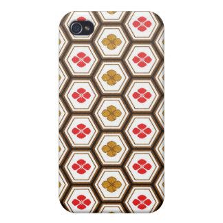 クールな東洋の日本の六角形の形の花 iPhone 4/4S CASE