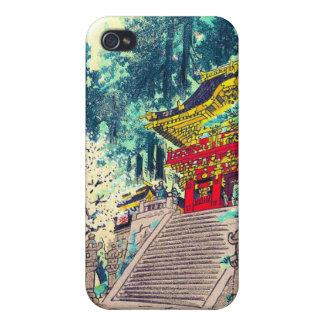 クールな東洋の日本の古代森林神社の芸術 iPhone 4/4S ケース