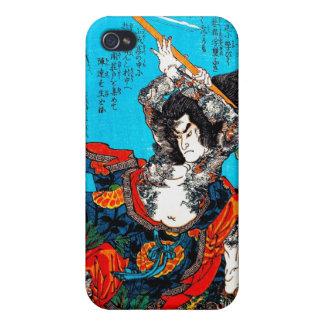 クールな東洋の日本の古代武士の戦士Jo iPhone 4/4S Case