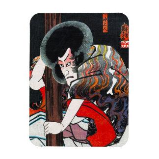 クールな東洋の日本のkabukiの戦士の芸術 マグネット
