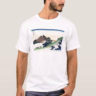 クールな東洋の日本人のHokusai富士の眺めの景色 Tシャツ