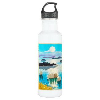クールな東洋の日本人のKawai Kenjiのsunset湖 ウォーターボトル