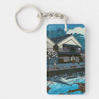 クールな東洋の日本夜村の通り場面 キーホルダー