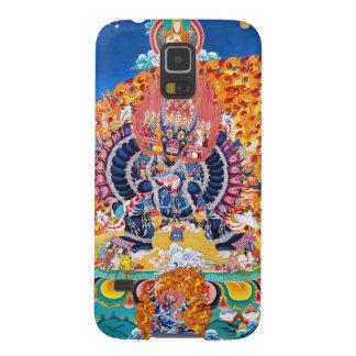 クールな東洋のtangkaのYamantakaの死の神の入れ墨 Galaxy S5 ケース