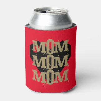 クールな母の日のギフト! グランジで幾何学的なハート 缶クーラー