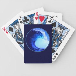 クールな波のスタイルの青い波 バイスクルトランプ